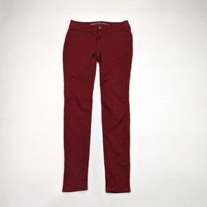 American Eagle Jegging Womens Size 2 Dark Red Pant